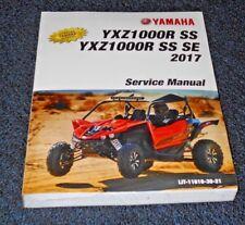 YAMAHA YXZ1000R, YXZ1000 OEM SHOP,SERVICE,MECHANIC REPAIR MANUAL, BOOK 2017