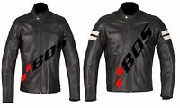 Motorradjacke Jacke, Herren Motorrad Lederjacke, Vintage Jacke, Cafe Racer Jacke