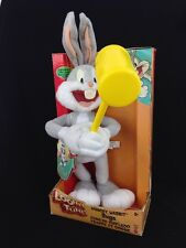 Looney Tunes Whacky Wabbit Bugs Bunny Plush Mallet Action Sounds Speaks English