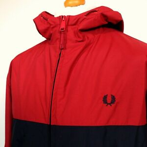 Fred Perry Panelled Sailing Jacket (XL/XXL - Navy/Red) Mod 60's Terraces Casuals