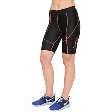 Mujer Compresión Pantalón Corto Deportivo Capa Base Piel Firme