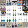 925 Silver Rhinestone Stud Hoop Earrings Wedding Jewellery Gift