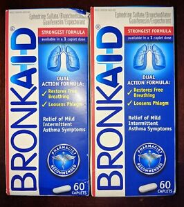 BRONKA1D -- 2 Boxes/120 Caps -- Exp'y Date 01/23 -- FREE SHIPPING!