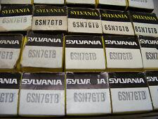 1960s Matched Pair 2 Sylvania 6Sn7Gtb Vtg Stereo Amp Vacuum Tubes Part Nos Nib