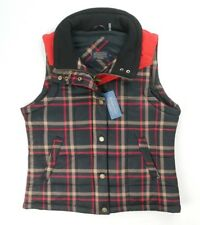 NEW PENDLETON WOMENS BLACK RED PLAID ZIP/SNAP BUTTON GILET WAISTCOAT VEST