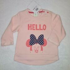 DISNEY BABY sweat pull rose MINNIE manches longues taille 12 mois neuf