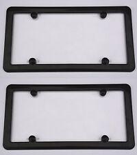 2 UNBREAKABLE Flat Clear Shield + 2 Black Frame + 8 Screw Caps for VOLKSWAGEN