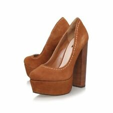 Suede Upper No Pattern Clubwear Block Heels for Women