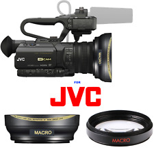 ULTRA WIDE ANGLE LENS + MACRO LENS FOR JVC GY-HM250 UHD 4K Streaming Camcorder