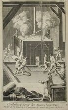 Antique 18th C Engraving Foundry Casting of Equestrian Sculptures Diderot Benard