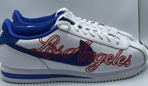 Nike Cortez Basic Leather Los Angeles Dodgers White DA4402-100 Men's Size 11