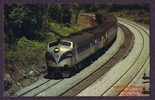 LMH Postcard  METRO NORTH Railroad MTA FL9 5048 Passenger Commuter Montrose 1982