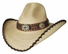 NEW - GOLDEN DAWN 20X Tan Palm Leaf Straw Western Cowboy Hat Bullhide MonteCarlo
