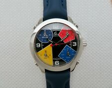 Jacob & Co. 5 Time Zones Quartz Watch Excellent Condition - JCM-11 - 40 mm