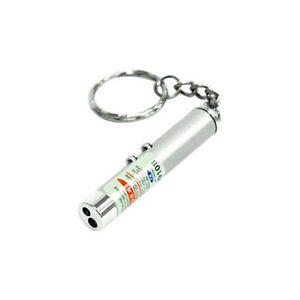 New 2 in 1 Red Laser Lazer Pointer Pen + LED Light Torch Cat Dog Toy Keyring