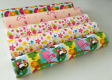 SPECIAL OFFER PACK OF 5 TROPICAL CANVAS PRINTED FABRIC SHEET.HAIR BOWS