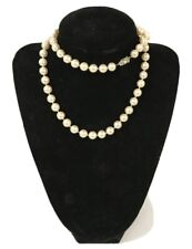 Antique natural Pearls Necklace With Diamonds Platinum Clasp