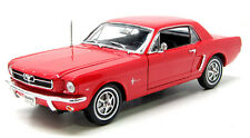 Welly 1/18 Scale 1964 1/2 Ford Mustang Coupe Red Diecast Car Model 12519