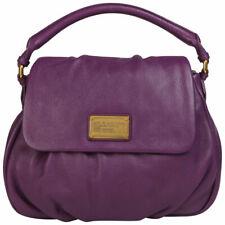 Marc Jacobs Classic Q Lil Ukita Italian Leather Pansy Purple Satchel Bag