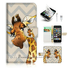 ( For iPhone 5 / 5S / SE ) Wallet Case Cover! P1743 Giraffe