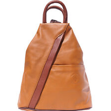 Backpack Purses Bag Italian Genuine Leather Hand made in Italy Florence 2061 tab
