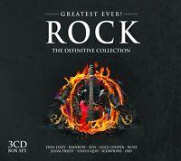 ROCK-GREATEST EVER 3 CD NEW+ SCORPIONS/STATUS QUO/KISS/URIAH HEEP/ALICE COOPER/+