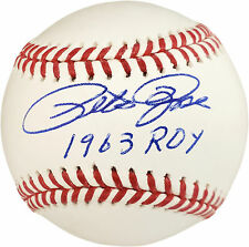 """PETE ROSE AUTOGRAPHED OFFICIAL MLB BASEBALL REDS """"1963 ROY"""" PR HOLO 177470"""