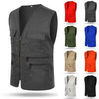 Men's Tank Top Photography Director Travelers Outdoor Vest Sleeveless Waistcoats