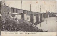 Indiana In Postcard 1907 LOGANSPORT I.U.T Bridge Wabash KIENLEY'S ISLAND