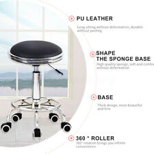 Salon Stool Chair Swivel Seat Backrest Hairdressing Hydraulic Lift 38-52cm -)