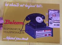 FASCICULES REPONDEUR TELEPHONIQUE BELCOM 1968