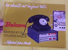 Ancien Fascicule Document Catalogue Répondeur Téléphonique BELCOM 1968
