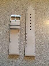 Autentico Gentiluomo'S Bianco Cinturino in Pelle 22mm