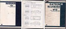 1980-83 NISSAN 910 SERIES BLUEBIRD Factory Manual with Australian Supplement