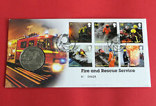 2009 FIRE AND RESCUE SERVICES PROOFLIKE ROYAL MINT MEDAL COVER