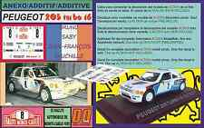 ANEXO DECAL 1/43 PEUGEOT 205 TURBO 16 B.SABY R.MONTECARLO 1985 (06)