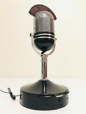 ANTIQUE OLD 1970,s ON THE AIR AM/FM MICROPHONE ART DECO VINTAGE TRANSISTOR RADIO