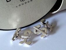 """""""Links of London"""" Classic hallmarked sterling silver oval Cufflinks with box"""