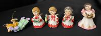 Vintage Christmas Bozner Engel Thun Artmark Musician Angels Miss Piggy Ornaments