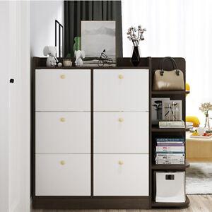 Shoe Cabinet Organizer Hallway Storage Rack With 6 Drawers Wooden Unit Cupboard