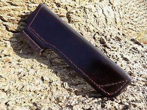 Handmade leather Bushcraft  Knife Sheath Dark Brown with firesteel holder