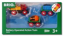 BRIO 33319 Zug mit Batterielok Holzeisenbahn Spielzeug