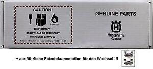 Original Husqvarna Automower Solar Hybrid Batterie Akku + Fotodokumentation!!!