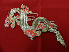 DRAGON IRON ON SEQUIN EMBROIDERED APPLIQUE 3337-Z