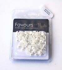 WEDDING FAVOURS  Pearl Heart Plastic 8mm Cream 100pcs FREE POSTAGE