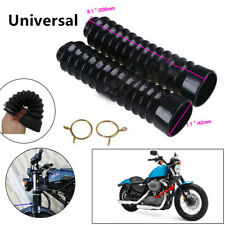 2x Motorcycle Scooter Fork Rubber Boot Shock Damper Dust Dirt Protect Cover 42mm