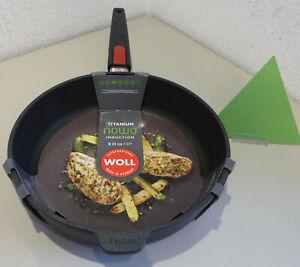 WOLL Guss-Hochrandpfanne 28 cm Nowo Titanium Induktion Bratpfanne beschichtet