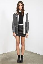 Outerwear, Faux Shearing-lined Duffle Coat,charcoal Heather, M, forever21