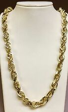 """14k SOLID Gold Diamond Cut ROPE Link Chain/Necklace 26"""" 11MM 265 grams (080SDC)"""