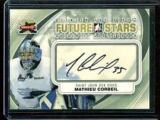 2011-12 ITG Between the Pipes Goaliegraph Autograph A-MCO   Mathieu Corbeil